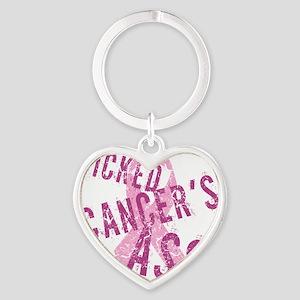 Kicked Cancers Ass Heart Keychain