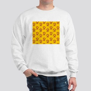 I Heart Bacon All Over - Yellow-Orange Sweatshirt