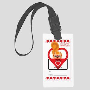 Valentine Squirrel Luggage Tag