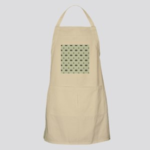 Cream and Black Chandliers Apron
