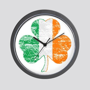 Vintage Irish Flag Shamrock Wall Clock