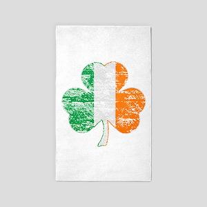 Vintage Irish Flag Shamrock 3'x5' Area Rug