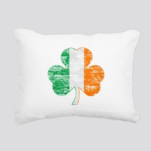 Vintage Irish Flag Shamrock Rectangular Canvas Pil