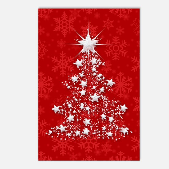 Sparkling Red Christmas T Postcards (Package of 8)