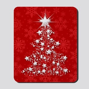 Sparkling Red Christmas Tree Mousepad