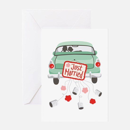 Just Married Car Greeting Cards