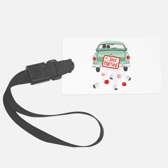 Just Married Car Luggage Tag
