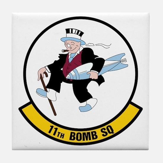USAF: 11th Bomb Squadron Tile Coaster
