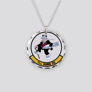 USAF: 11th Bomb Squadron Necklace Circle Charm