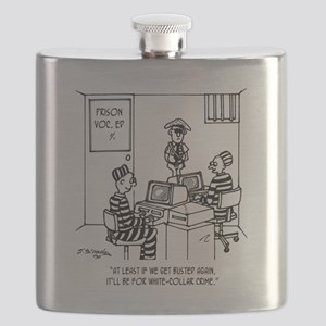 At Least Itll Be White Collar Crime Flask