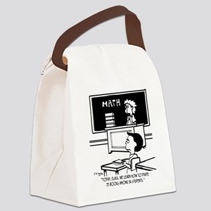 Divide 25 Books Among 34 Students Canvas Lunch Bag