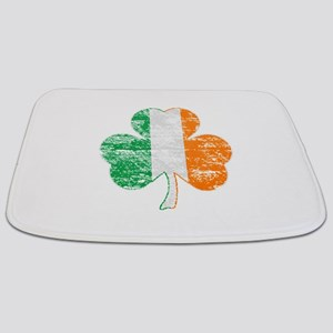 Vintage Irish Flag Shamrock Bathmat