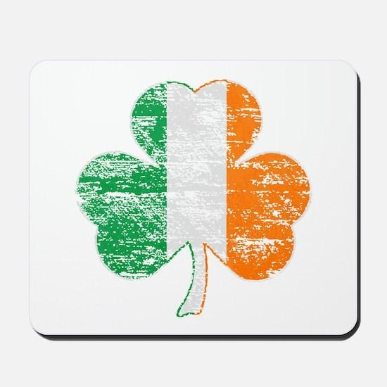 Vintage Irish Flag Shamrock Mousepad
