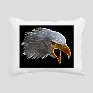 American Bald Eagle Head Rectangular Canvas Pillow