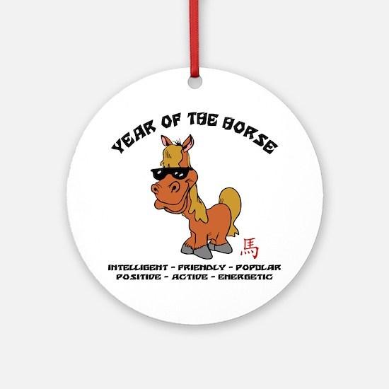 horseA68light Round Ornament