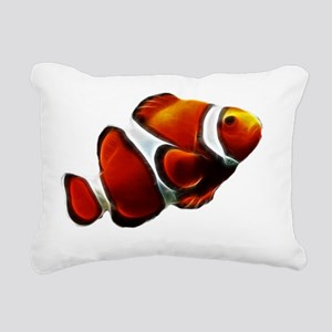 Orange Clownfish Tropica Rectangular Canvas Pillow
