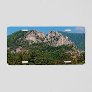 SENECA ROCKS Aluminum License Plate