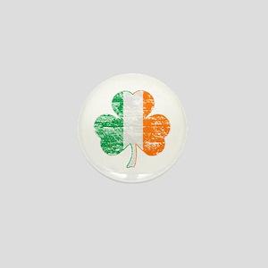 Vintage Irish Flag Shamrock Mini Button