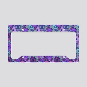 Purple Calavera License Plate Holder