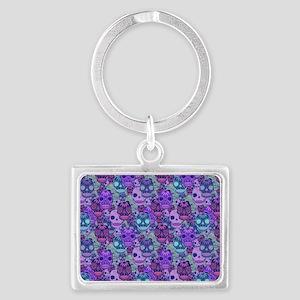 Purple Calavera Landscape Keychain
