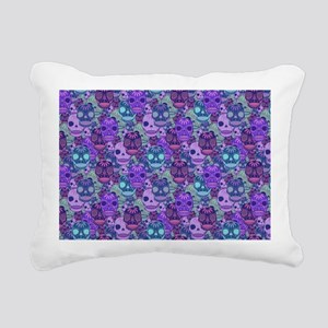 Purple Calavera Rectangular Canvas Pillow