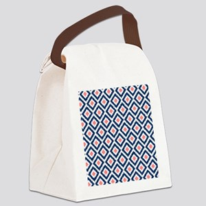 Blue Ikat Canvas Lunch Bag