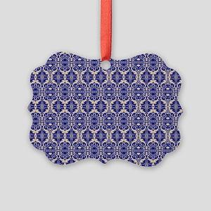 Elegant Vintage Blue Picture Ornament