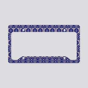 Elegant Vintage Blue License Plate Holder