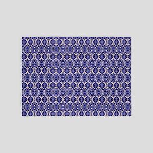Elegant Vintage Blue 5'x7'Area Rug
