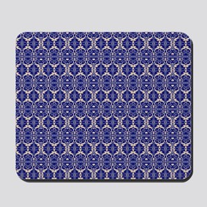 Elegant Vintage Blue Mousepad