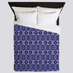Elegant Vintage Blue Queen Duvet
