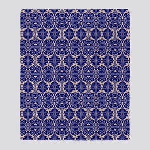 Elegant Vintage Blue Throw Blanket