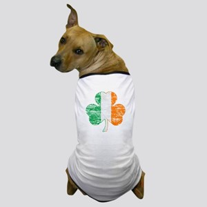 Vintage Irish Flag Shamrock Dog T-Shirt