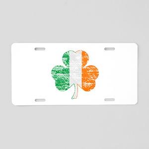 Vintage Irish Flag Shamrock Aluminum License Plate