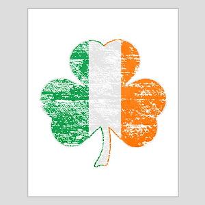 Vintage Irish Flag Shamrock Posters