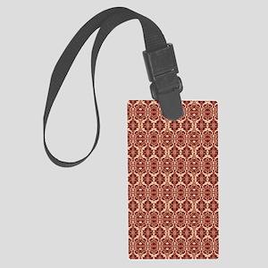 Elegant Red Vintage Large Luggage Tag