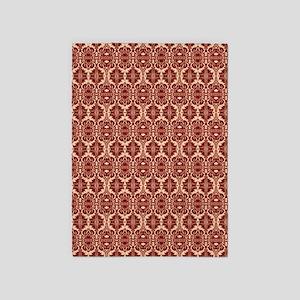 Elegant Red Vintage 5'x7'Area Rug