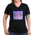 Minister SisterFace Graphic Women's V-Neck Dark T-