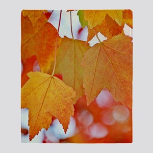 Modern Fall Leaves Throw Blanket