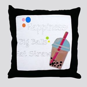 Bubble Tea, Happiness: Big Balls  A F Throw Pillow