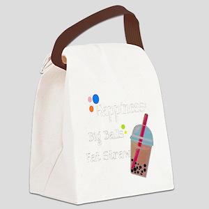Bubble Tea, Happiness: Big Balls  Canvas Lunch Bag