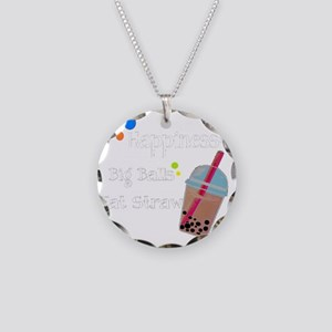 Bubble Tea, Happiness: Big B Necklace Circle Charm