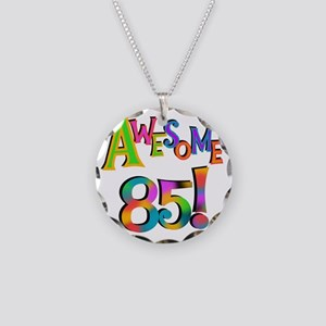 Awesome 85 Birthday Necklace Circle Charm