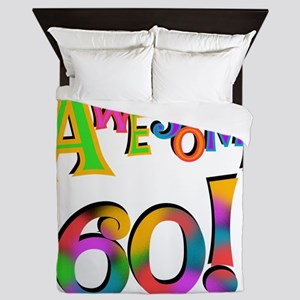 Awesome 60 Birthday Queen Duvet