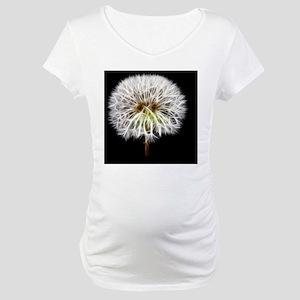 White Dandelion Flower Plant Maternity T-Shirt