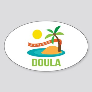 Retired Doula Sticker (Oval)