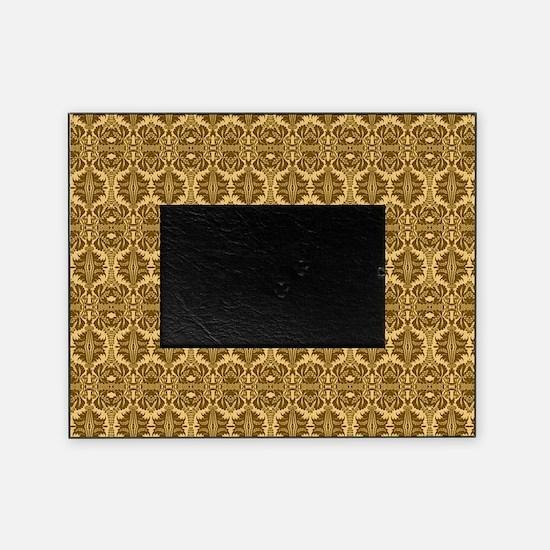Elegant Brown and Gold Vintage Picture Frame