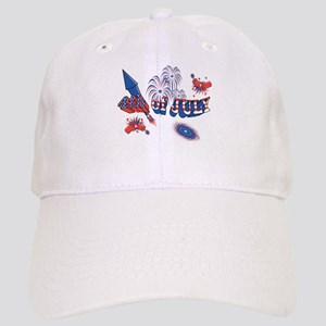 Fourth of July Fireworks Cap