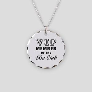 50's Club Birthday Necklace Circle Charm