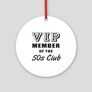 50's Club Birthday Ornament (Round)